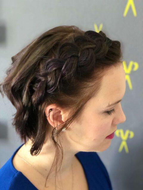 Cut´n drive - Mobiles Haarstudio - Kundenfoto Flechtfrisur zur Schlagerparty