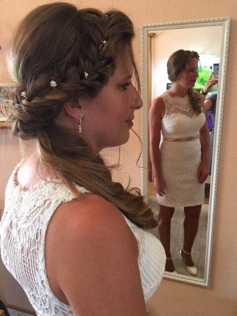 Brautfoto - im Spiegel