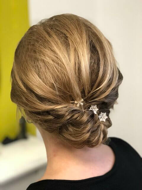 Brautfoto - Twistet Bun - hinten