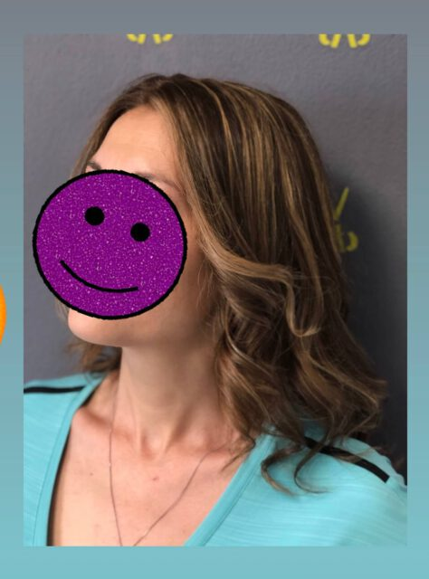 Kundenfoto, Face-frame, Balayage, von der Sonne geküsst, glossy Hair